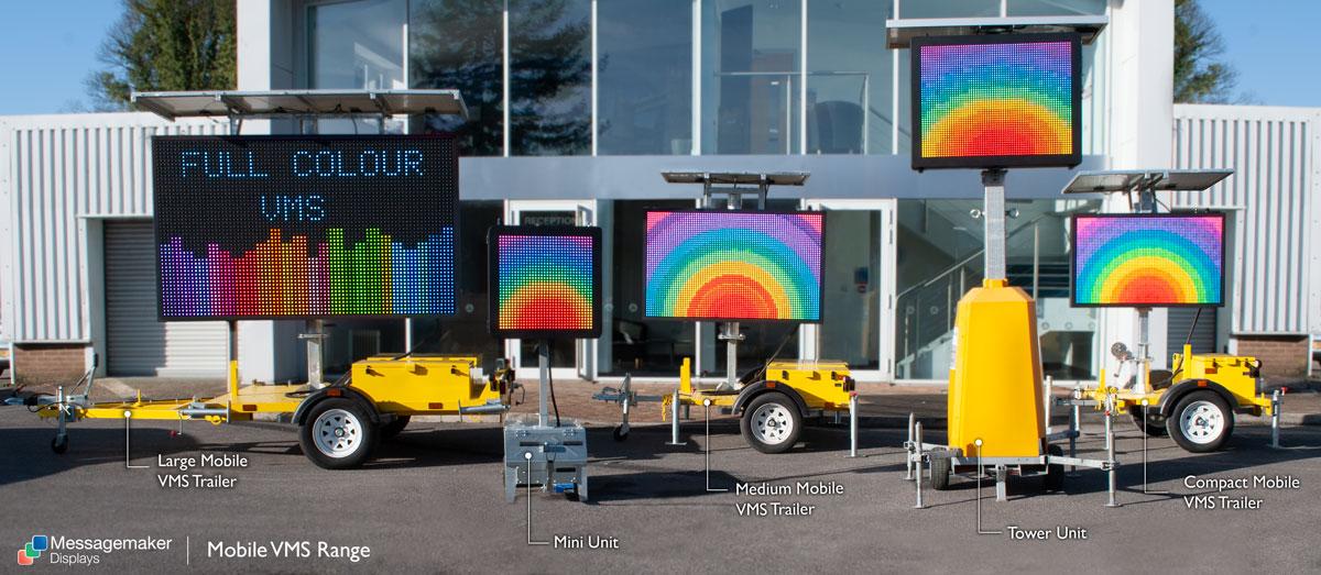 Mobile VMS Range Full Colour from Messagemaker Displays