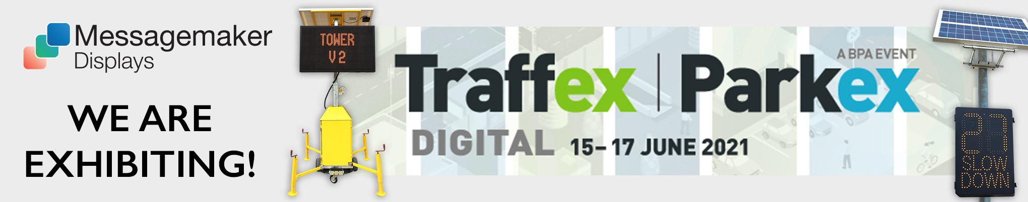 Traffex Parkex 2021 Banner